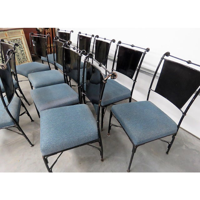 Vintage Mid-Century Modern Metal Dining / Side Chairs - Set of 10 For Sale - Image 4 of 13