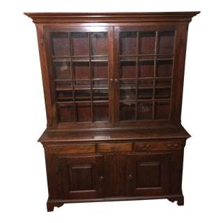 1760 Early American Pennsylvania Breakfront Cupboard For Sale
