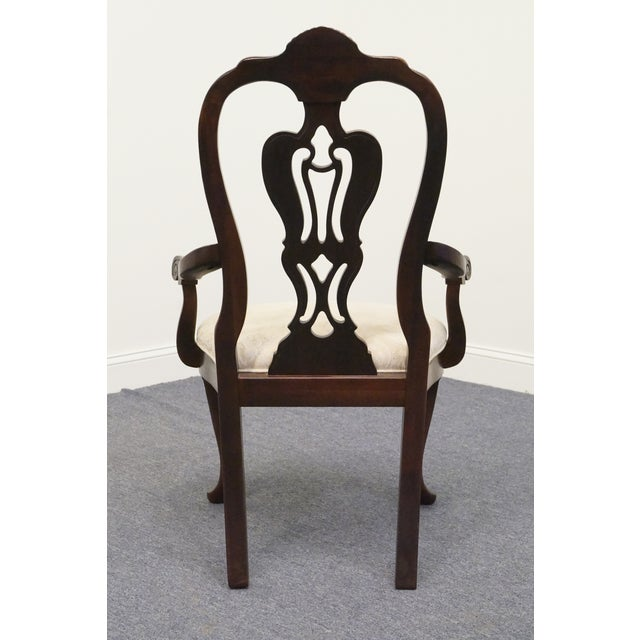 Late 20th Century Vintage Thomasville Mahogany Collection Arm Chair For Sale In Kansas City - Image 6 of 10