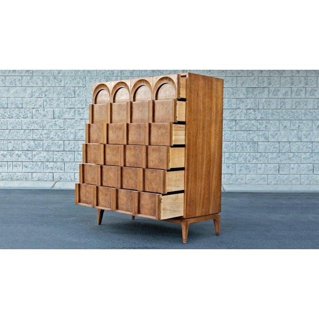 Mid-Century Modern 1960s Mid Century Modern Thomasville Tallboy Dresser For Sale - Image 3 of 4