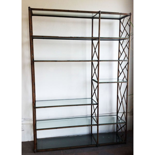 Mid-Century Regency Chippendale Wall Unit Etagere - Image 2 of 4