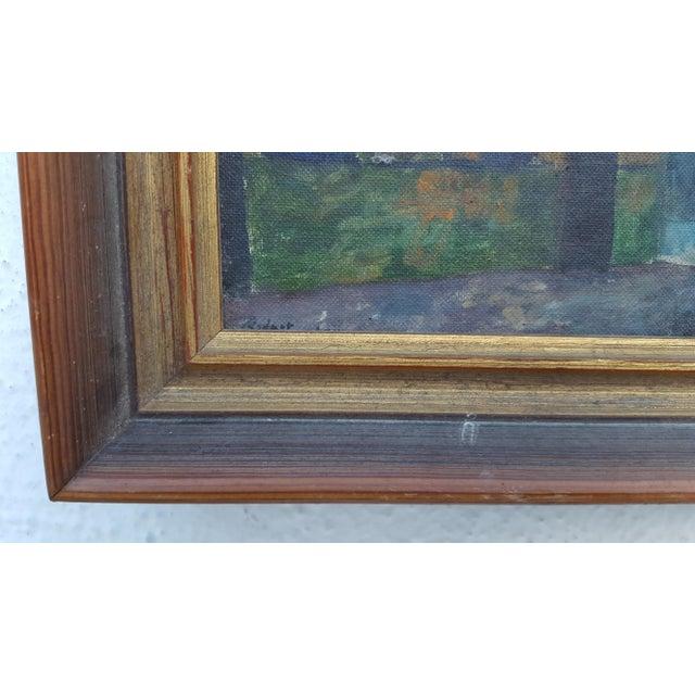 1964 Rodger Moprisk Rural Street Scene Oil Painting For Sale - Image 5 of 9