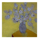 "Image of Bill Tansey "" Yellow Flower"" Abstract Floral Oil on Canvas For Sale"