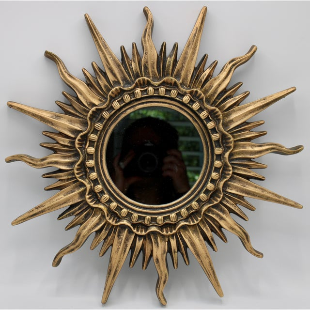 Antique French Sunburst Mirror For Sale - Image 9 of 13