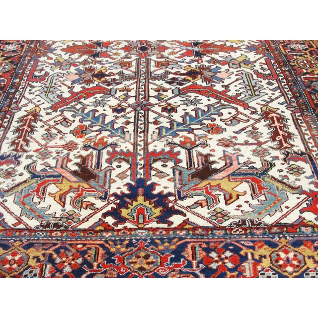 Persian Antique Heriz Tree of Life Rug For Sale - Image 3 of 8