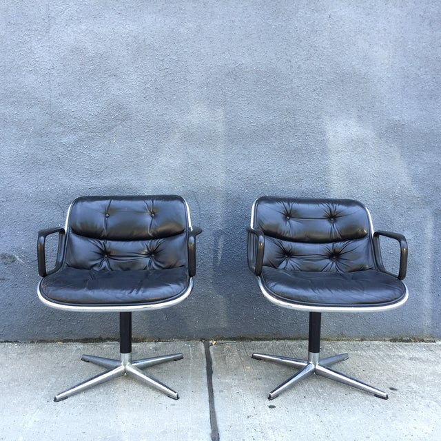 Lounge Chairs by Charles Pollock for Knoll - Pair - Image 3 of 10