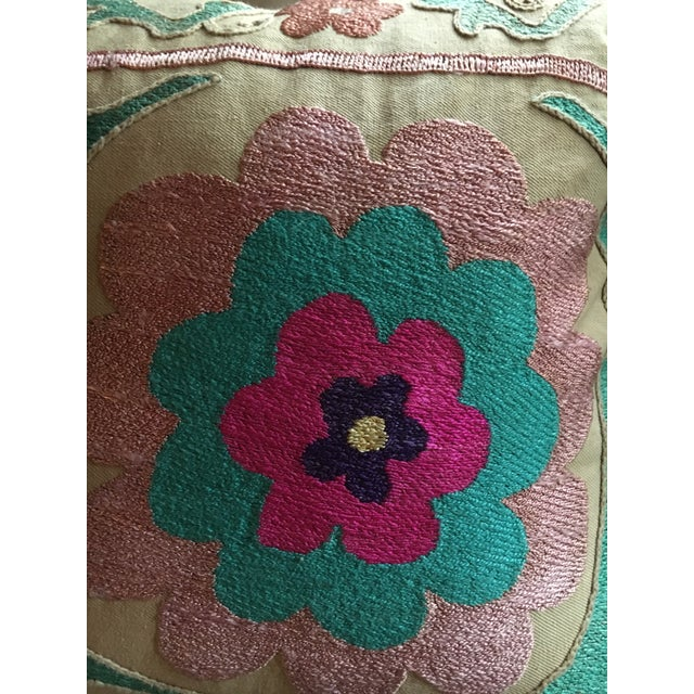 2010s Embroidered Suzani Pillow For Sale - Image 5 of 6