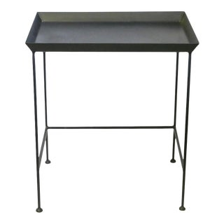 Black Metal Tray Table For Sale