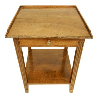 Early 19th Provincial Walnut Side Table For Sale