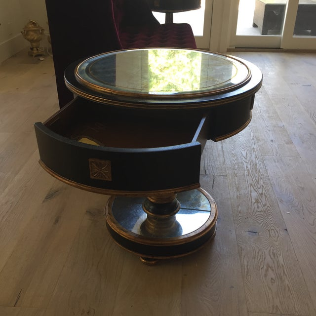 Mid Century Modern- Smoke Mirrored End Table. Century Furniture Brand For Sale - Image 9 of 13