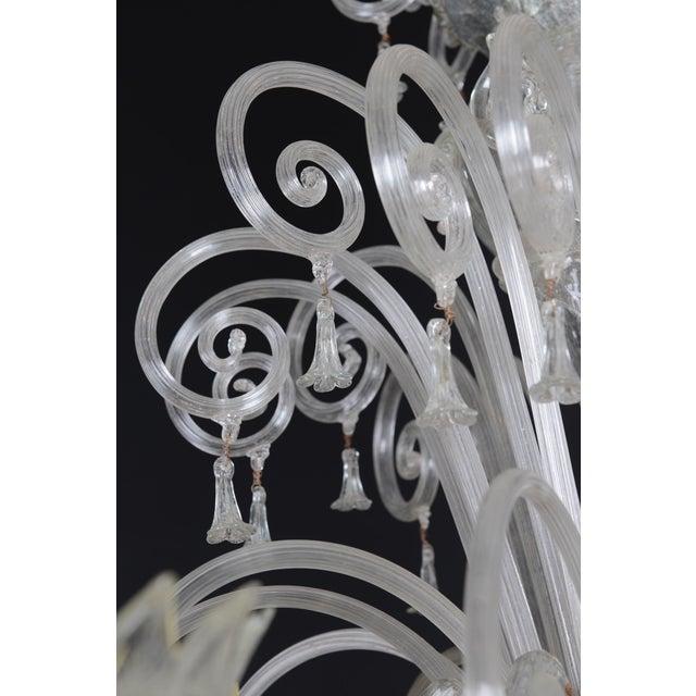 1900s Italian Murano Glass 10-Light Chandelier For Sale - Image 9 of 11