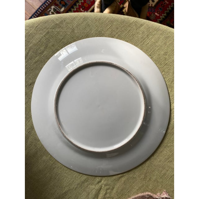 Antique Corsican French-Italian Coat of Arms Sola Virtue Invest Plates - a Pair For Sale - Image 9 of 10