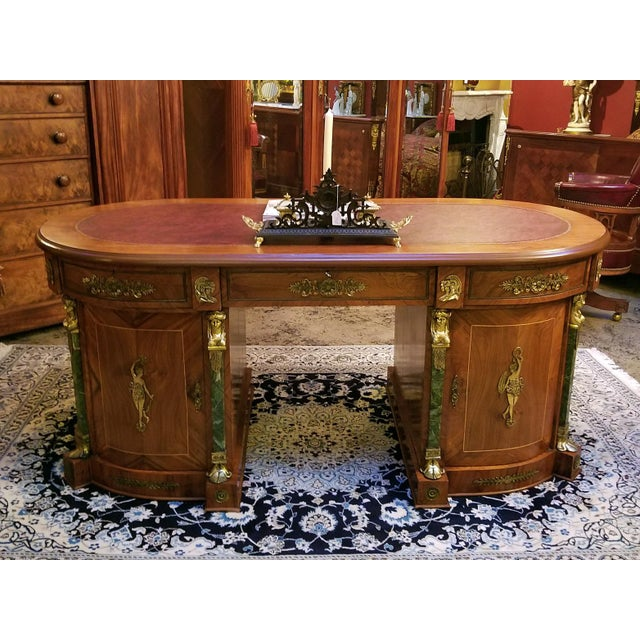 Egyptian Revival Egyptian Classical Revival Desk For Sale - Image 3 of 12