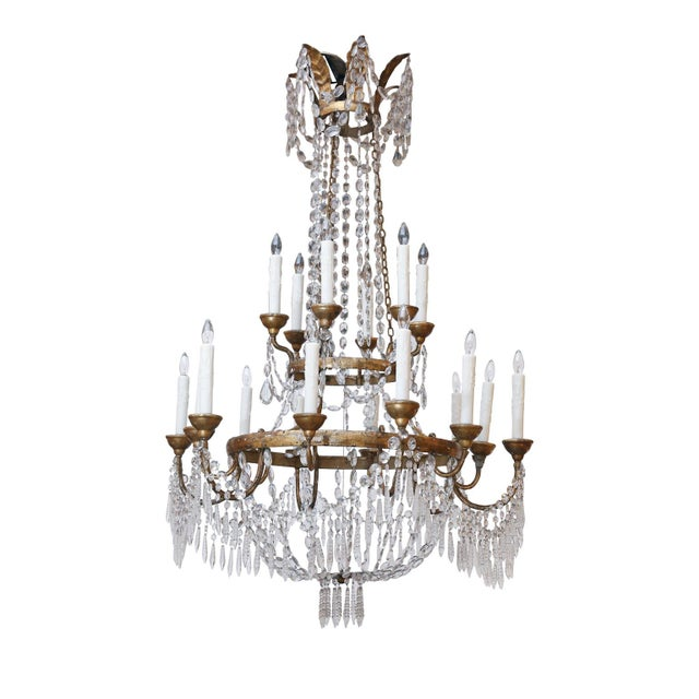 Large-Scale Neoclassical Chandelier For Sale - Image 13 of 13