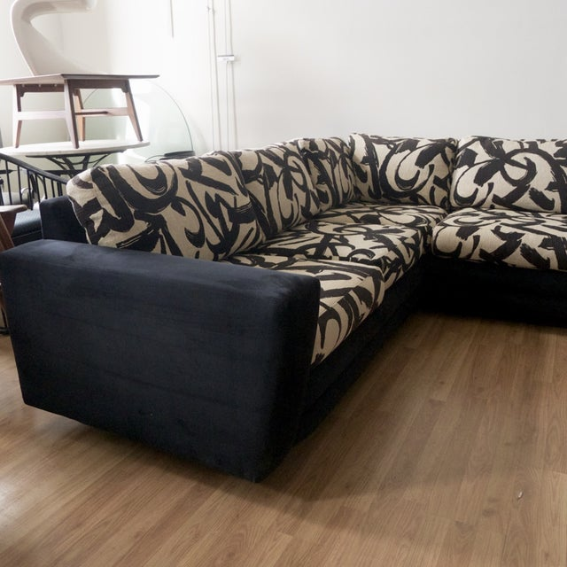 Abstract Patterned Secional Sofa by Directional - Image 4 of 8