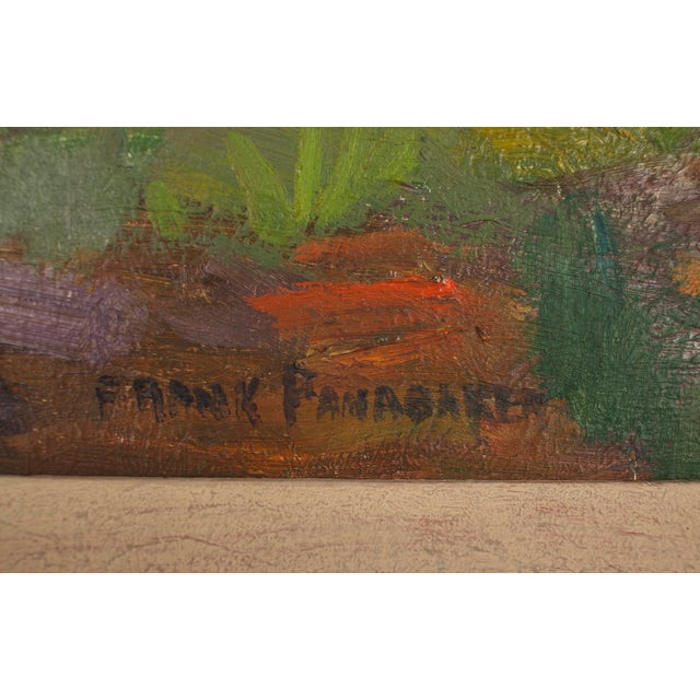 Original Frank Shirley Panabaker Painting Oil on Masonite For Sale - Image 9 of 11