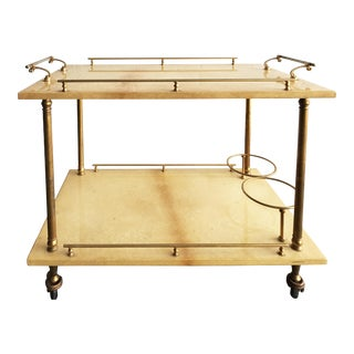 Superb Small Bar Cart from Aldo Tura For Sale