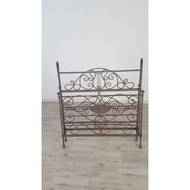 Empire 19th Century Empire Iron Single Bed For Sale - Image 3 of 13