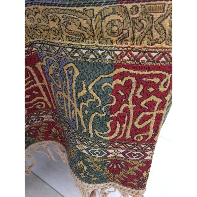 Textile Granada Islamic Spain Textile With Arabic Calligraphy Writing For Sale - Image 7 of 10