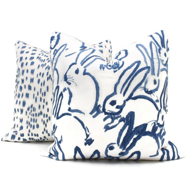 Lee Jofa Groundworks Hutch Blue Bunny Pillow - Image 3 of 6