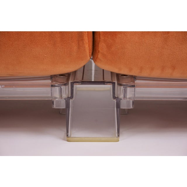 Fabric Pair of Lucite Love Seats/ Sofas by Piero Lissoni for Kartell For Sale - Image 7 of 13