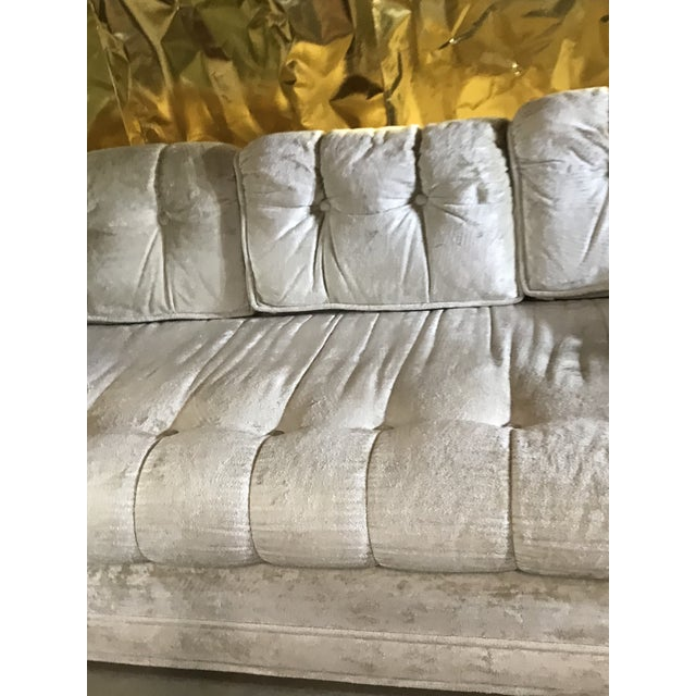 1970s Milo Baughman Frost White Sofa For Sale In Sacramento - Image 6 of 13