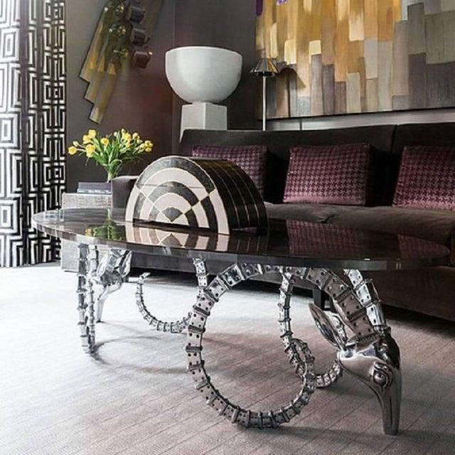Mid-Century Modern 1970s Mid-Century Modern Alain Chervet Aluminum Ibex Coffee Table Bases - a Pair For Sale - Image 3 of 10