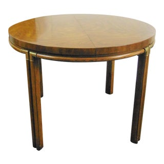 Drexel Mid Century Faux Bamboo Dining Table For Sale