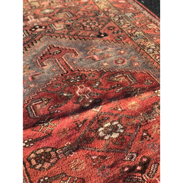 1940s Vintage Persian Hosenibad Runner Rug - 3′7″ × 10′2″ For Sale - Image 11 of 12