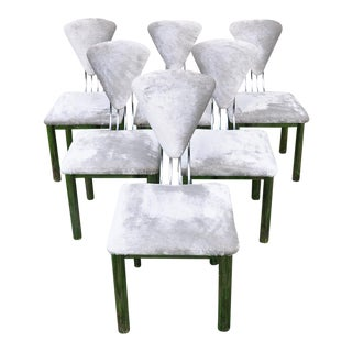 Mid-Century Chrome Dining Chairs - Set of 6 For Sale