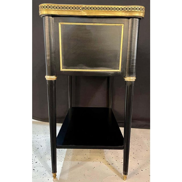 Pair of Hollywood Regency Nightstands or End Tables in the Manner of Jansen For Sale - Image 11 of 13