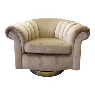 Milo Baughman for Thayer Coggin Swivel Lounge Chairs For Sale