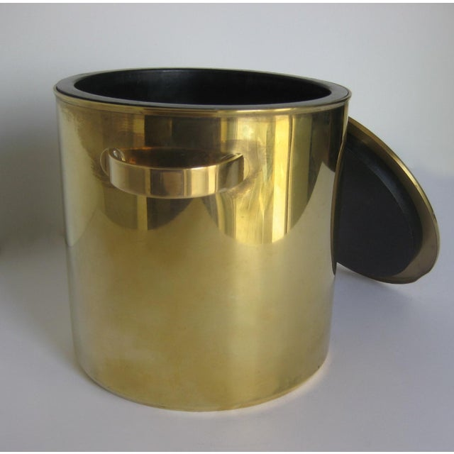 Mid-Century Italian Brass & Teak Ice Bucket - Image 8 of 13