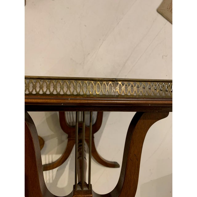 1940s Traditional Side/Coffee Table With Brass Gallery For Sale - Image 4 of 10
