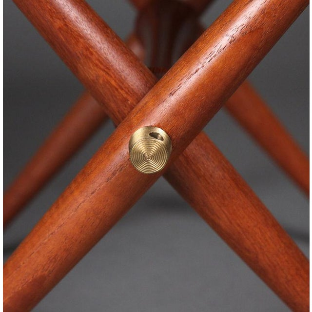 Jens Harald Quistgaard Pair of Staved Teak Occasional Tables by Jens Quistgaard For Sale - Image 4 of 4