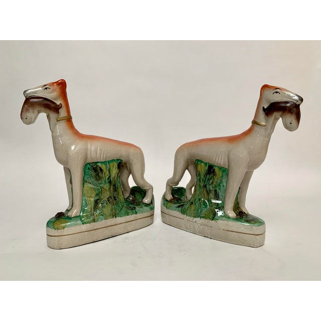 Staffordshire Ceramic Dogs – a Pair For Sale - Image 12 of 12