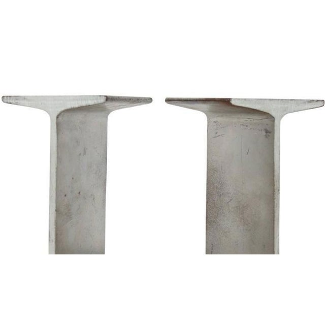 Mid-Century i-beam metal bookends.