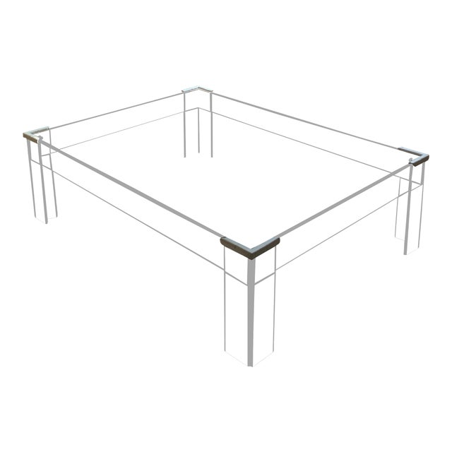 Lucite Coffee Table.Minimalist Lucite Coffee Table