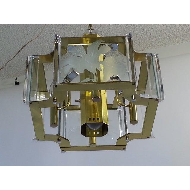 Mid-Century Modern Fredrick Ramond Mid-Century Chandelier For Sale - Image 3 of 11