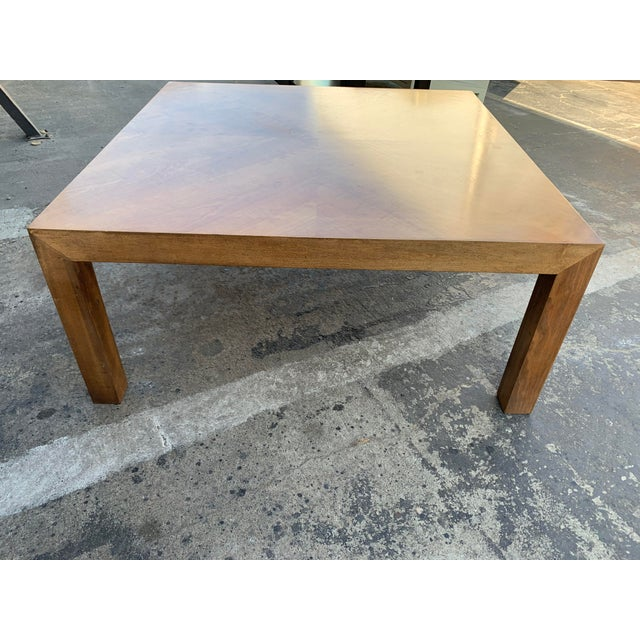 Mid 20th Century Mid Century Modern Parquet Wood Coffee Table For Sale - Image 5 of 11
