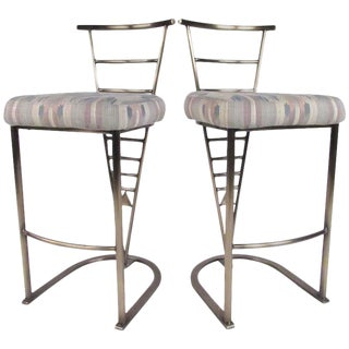 Pair of Contemporary Modern Bar Stools by Dia For Sale