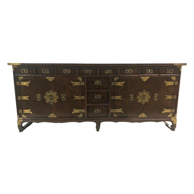 Antique Korean Wooden Credenza For Sale In Chicago - Image 6 of 6