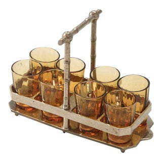 Midcentury French Cordial Set For Sale