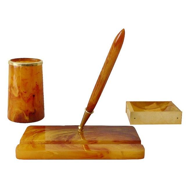 Italian Bakelite Desk Set For Sale - Image 9 of 9