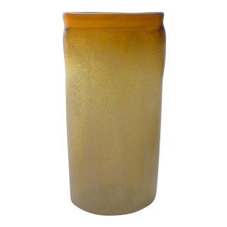 Murano Glass Scavo Blizzard Vase For Sale