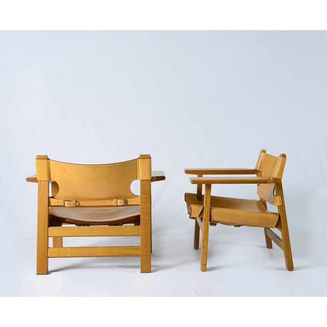 "Pair of Børge Mogensen ""Spanish"" Chairs - Image 2 of 10"