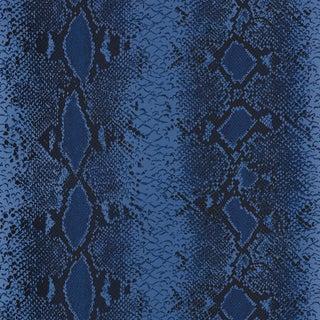 Schumacher Snake Charmer Wallpaper in Cobalt For Sale