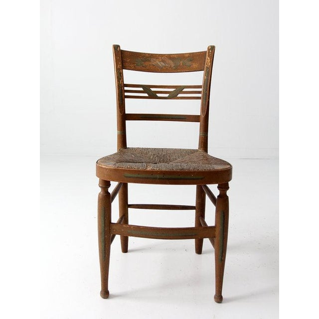 Antique Rush Seat Chair - Image 4 of 6