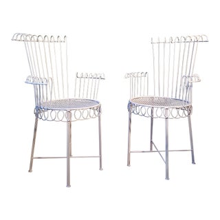 Mathieu Mategot Model Cap d'Ail Iron Chairs - A Pair