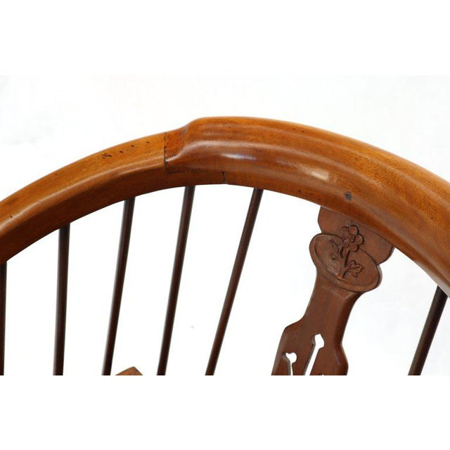 1970s Teak Horseshoe Back Lounge Chairs - a Pair For Sale - Image 9 of 13